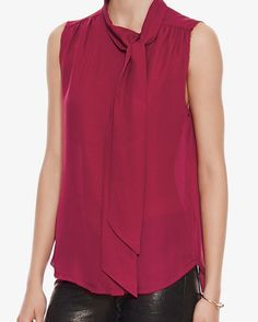 NSF EXCLUSIVE Tie Neckline Sleeveless Blouse | Shop IntermixOnline.com