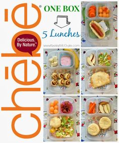 Keeley McGuire: Lunch Made Easy: One Box, Five Lunches with @Chebe_Bread - Packed in @EasyLunchboxes