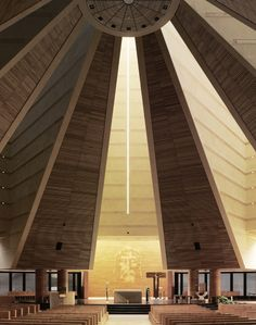 Mario Botta's Santo Volto in Turin, Italy, completed in 2006. Image © Fabrice Fouille | ArchDaily