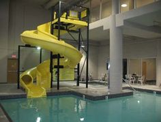Indoor Pool/Waterslide and Hot Tub at the Super 8 Abbotsford BC in Abbotsford, British Columbia