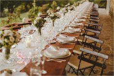 Umbria wedding - Italy Gorgeous country styled table  Wedding Planners SposiamoVi Photography Ed Peers