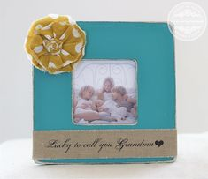Grandma Gift Picture Frame. 'Lucky to Call You Grandma' Personalized Frame from Grandkids Grandchildren