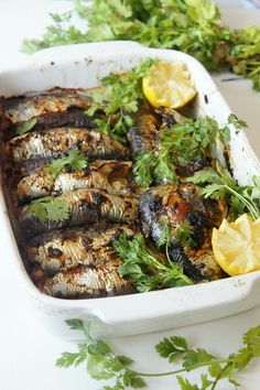 Foodisterie - Lifestyle - Home-Made Clean Recipes, Fish Recipes, Seafood Recipes, Vegetarian Recipes, Cooking Recipes, Sardines Au Four, Easy Diner, Morrocan Food, Tunisian Food