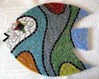 Peixe Decorativo Mosaic Birds, Mosaic Art, Mosaic Projects, Beach Crafts, Big Fish, New Years Eve Party, Diy Art, Handicraft, Garden Art