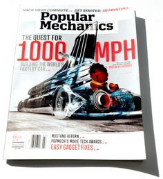 Popular Mechanics March 2014 cover. Render by sinelab