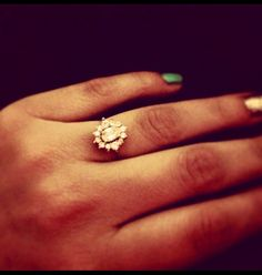 Vintage Engagement Ring- with a detailed band, that would look perfect.