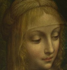 Follower of Leonardo da Vinci - The Virgin and Child Detail