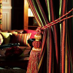 (One Pair) Classic Royal Vintage Classic Stripes Energy Saving Curtain – USD $ 99.99