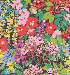Moda Regent Street Lawns Charcoal Spring Floral