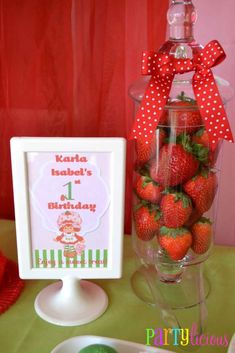 Strawberry Shortcake Birthday Party Ideas   Photo 4 of 24   Catch My Party