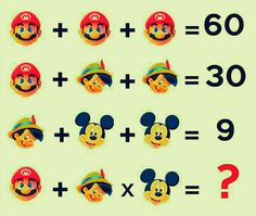 Can you solve the cartoon math puzzle?