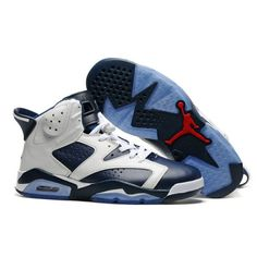 jordans olympic white midnight navy varsity red retro mens for sale - cheap  air jordan 6