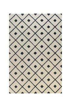 Textured Diamonds Wool Rug - Ivory/Black by Bashian on @HauteLook