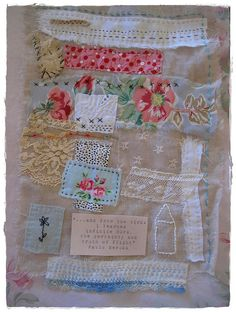 Remnant Fabric Collage by peregrine blue, via Flickr