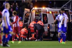 Atletico Madrid's forward Fernando Torres is evacuated in an ambulance due to an injury yesterday.  Madrid (AFP) - Spanish football breathed a sigh of relief after a CT scan on Fernando Torres revealed the Atletico Madrid striker suffered no traumatic brain injuries in a sickening on-field clash   #Atletico Madrid #Fernando Torres #News #Sports