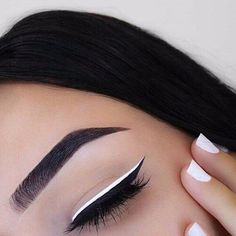 NYE Beauty Essentials Thatll Keep Your Look on Lock Past Midnight White Eyeliner Makeup Beauty Essentials Lock Midnight NYE thatll Makeup Goals, Makeup Inspo, Makeup Inspiration, Makeup Ideas, Makeup Tutorials, Makeup Pics, Prom Makeup, Makeup Guide, Makeup Designs