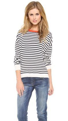 03d90b8d5211c0 DEMYLEE Stripe Alexa Cashmere Sweater Demylee, Cashmere Sweaters, Stripes