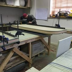 Boys working hard making our bespoke Wavelight! Check it out @ www.stevehowiebespokefurniture.com