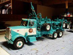 Peterbilt log truck model.