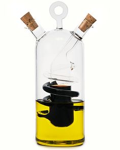 Cruet Modena: Oil & Vinegar, separate but together. Handmade in Hungary, with non dripping spouts. $56 #Cruet