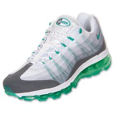 The Men\u0026#39;s Nike Air Max 95 Dynamic Flywire Running Shoes - 554715 130 - Shop Finish Line today! White/Atomic Teal/Dark Grey \u0026amp; more colors.
