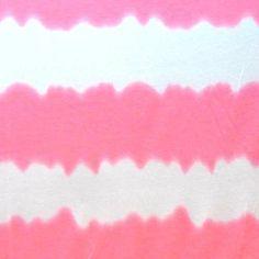 Rayon Jersey Knit - Pink & White Stripe - $9.98/yd