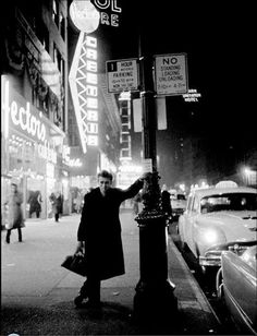 James Dean, 1955,  In New York at night By Dennis Stock
