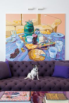 Interior Design Magazine: Chet Callahan's Los Angeles home by Ghislaine Vinas. Interior Design Magazine, Modern Interior Design, Interior Design Inspiration, New York Penthouse, Opposites Attract, Interiores Design, Dog Friends, Living Room Designs, Living Rooms