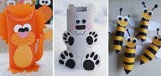 DIY Animais feitos com Rolos de Papel Higiénico - http://coisasdamaria.com/diy-animais-feitos-com-rolos-de-papel-higienico/