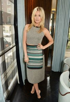 Picture perfect: Laura Whitmore proved she is happy to take a sartorial risk as she attend...