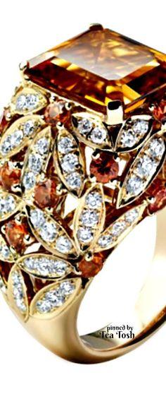 ❇Téa Tosh❇ Asprey Daisy Citrine Cocktail Ring
