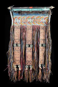 Africa | A leather panel from the Tuareg people of Niger and Mauritania | Goats leather | ca. 1990, sourced in Mauritania