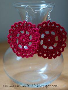 Living the Craft Life - Crochet Earrings
