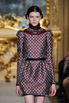 Lavish & luxe. Runway inspiration for fall 2012's Baroquely ornate fashion trend.     Looks from: Aquilano Rimondi, Balmain, Dolce & Gabbana, Giles, Mary Katrantzou, and Marchesa.
