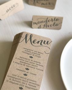 Wedding menu   rustic wedding