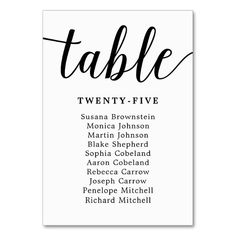 Elegant Calligraphy Wedding Guest Seating Card Wedding table cards you can personalize to add finishing details to your wedding reception or rehearsal dinner. Card Table Wedding, Wedding Table Decorations, Wedding Table Numbers, Wedding Invitation Cards, Custom Invitations, Wedding Tables, Wedding Stationery, Invites, Wedding Table Assignments