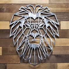 Sheet Metal Art, Scrap Metal Art, Metal Wall Decor, Wood Wall Art, Plasma Cutter Art, Geometric Lion, Sculpture Metal, Polygon Art, Metal Art Projects