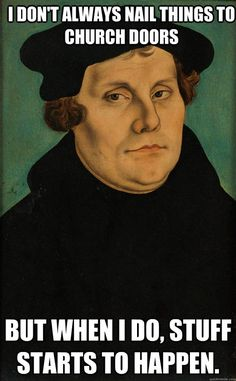 Portrait of German priest and theologian Martin Luther, leading figure of the Protestant Reformation,