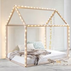 Toddler bed made to order montessori bed house bed wood baby furniture Childrens Beds, House Beds, Little Girl Rooms, Baby Furniture, How To Make Bed, New Room, Girls Bedroom, Childs Bedroom, Kid Bedrooms