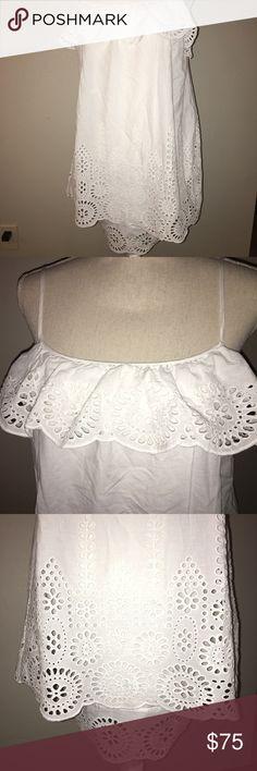 Susana Monaco Elyssa Eyelet Dress Size 6 EUC, Beautiful white, flowy sundress Susana Monaco Dresses Midi