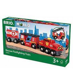 Brio 33844 - Tren bomberos infantil juguete