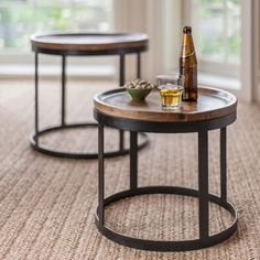 As seen in Prima Magazine. Industrial style nesting tables, so practical and stylish.