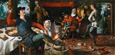 Pieter Aertsen, The Egg Dance - 1552 - shoes, hats, bags