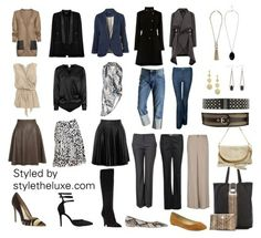 Apple capsule wardrobe. I would trade out the skirts to straight skirts for me. I don't need any more volume. #Applebody