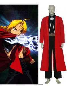 FullMetal Alchemist Edward Elric Cosplay Outfits Costumes