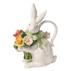 Kaldun and Bogle 131112 Spring Bunny Bows Pitcher for sale online Chai, Teapots And Cups, Teacups, Tea Cozy, Chocolate Pots, Spring Sale, Joss And Main, Tea Party, Vintage