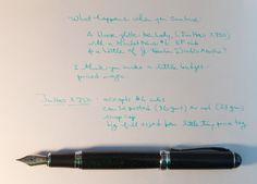 Jinhao X750 + Goulet Pens F Nib writing sample