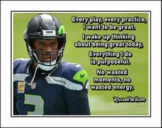 This Russell Wilson Inspirational Poster is a wonderful Football related gift. It is an inspiring, lasting gift for any football player. It will certainly encourage and motivate. This ready-to-frame poster is printed to order on heavyweight satin photo paper. Buy with confidence. I stand behind everything I sell. If you are not satisfied please contact me so I can resolve your unmet expectations. Football Motivation, Football Quotes, Motivational Wall Art, Inspirational Posters, Visual Aids, Russell Wilson, Quote Posters, Football Players, Order Prints