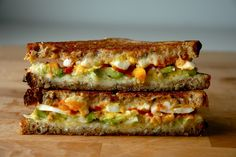 the morning after: avocado, egg & sriracha grilled cheese