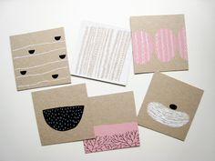 Simple blocked illos/shapes. Rubber stamps. Hanna Konola illustration.